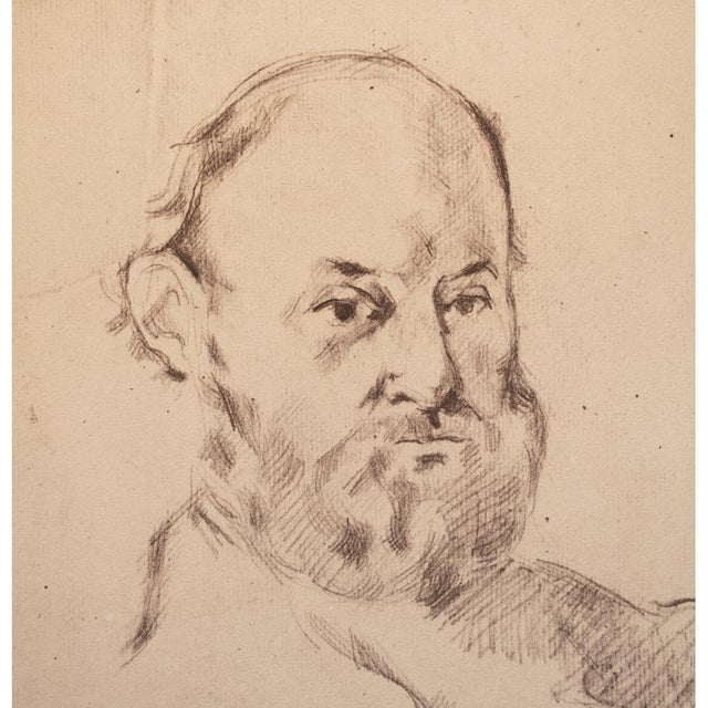 French 1959 Paul Cézanne Self-Portrait, Large Hungarian Photogravure For Sale - Image 3 of 8
