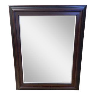 Contemporary Black + Burgundy Wall Mirror For Sale