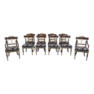1970s Italian Regency Style Dining Room Chairs- Set of 10 For Sale