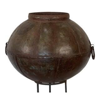 1980s Indian Metal Pot