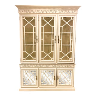 Chinese Chippendale Style Cabinet Att. To Century For Sale