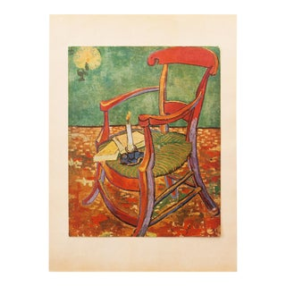 "C.1940s Van Gogh, ""Gauguin's Armchair"" Parisian Lithograph For Sale"