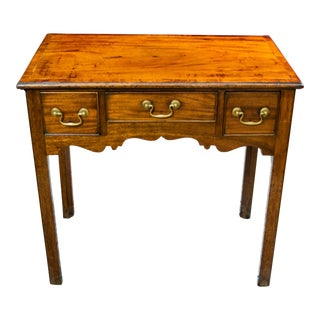 18th Century George III Mahogany Lowboy Table