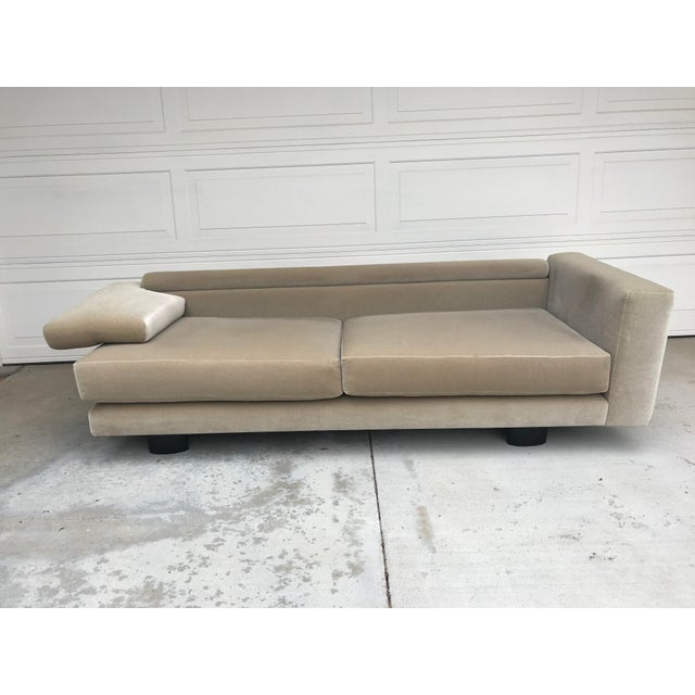 Mauro Lipparini for Saporiti Italia Mohair Sofa For Sale In San Diego - Image 6 of 10