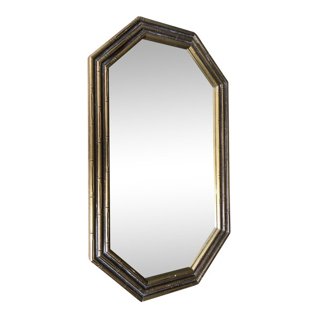 Vintage Faux Bamboo Octagonal Mirror - Image 1 of 5
