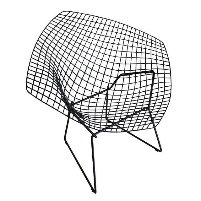 Vintage Black Knoll Bertoia Diamond Lounge Chair - Image 2 of 4