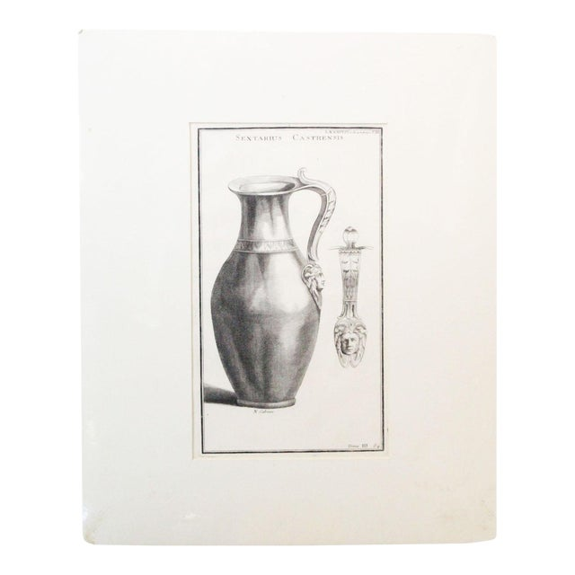 Early 18th Century Antique Urns and Vases of Ancient Times Engraving Print For Sale