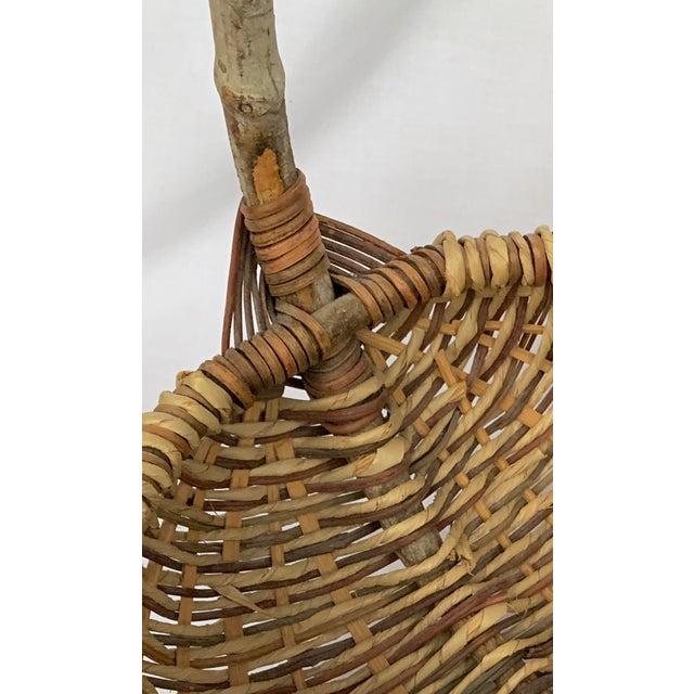Bentwood Vintage Buttocks Gathering Basket For Sale - Image 7 of 13
