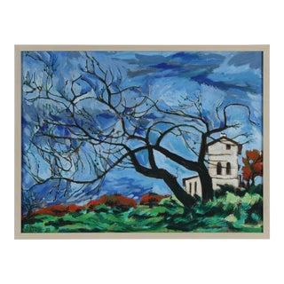 """""""Rome, Italy"""" Oil on Linen Landscape, 1970"""