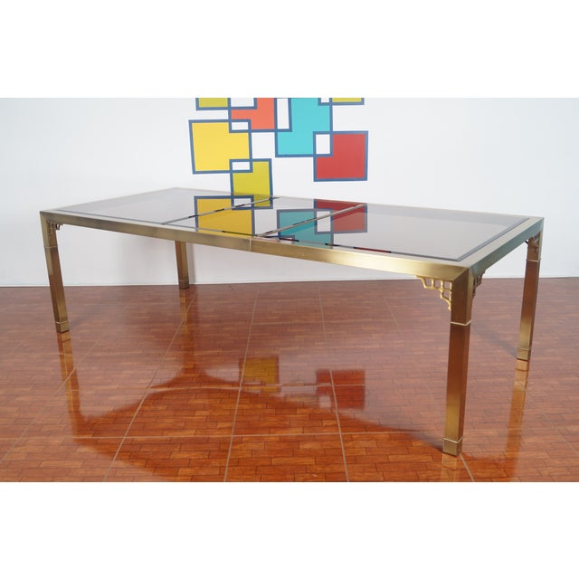 Vintage Mastercraft Brass & Glass Dining Table - Image 7 of 7
