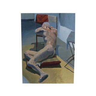 Male Nude Study Portrait For Sale