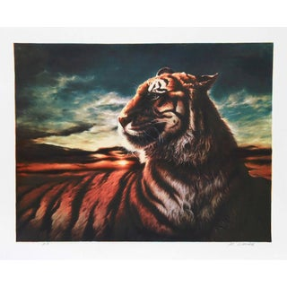 "Nancy Glazier, ""Tiger,"" Lithograph For Sale"