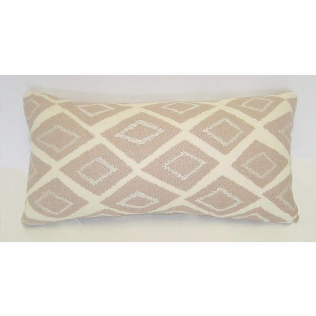 Mid-Century Geometric Pink Lumbar Pillow - Image 2 of 4