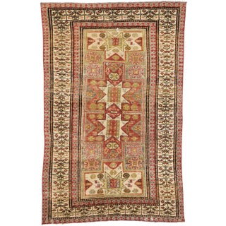 1950s Vintage Turkish Oushak Rug - 4′ × 6′3″ For Sale