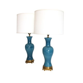Pair of Mid Century Asian Style Table Lamps
