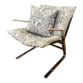 Mid Century Steel Cantilever Grasshopper Chair For Sale