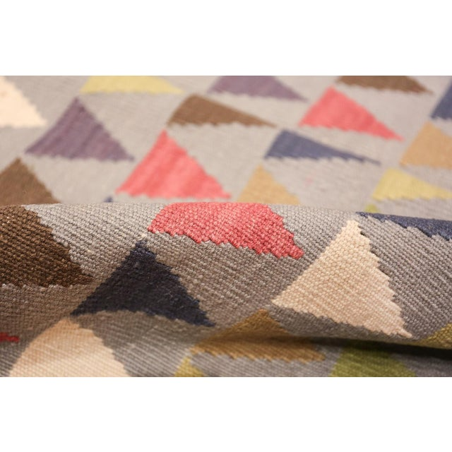 Textile Vintage Swedish Kilim For Sale - Image 7 of 8