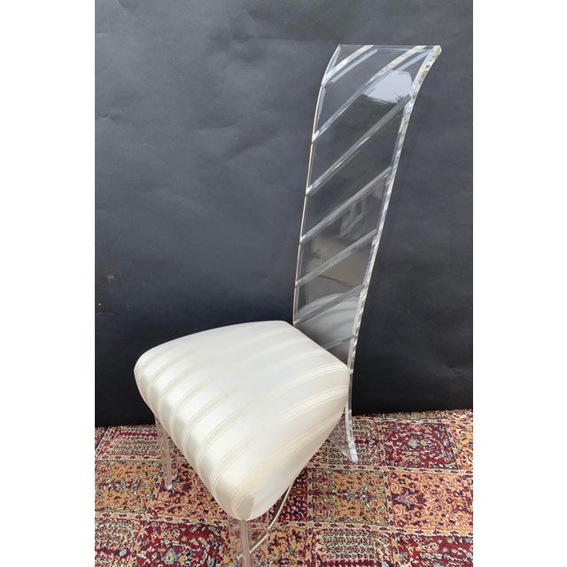 1980s Lucite and Glass Dining Set - 7 Pieces For Sale - Image 5 of 10