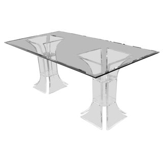 1970s Mid-Century Modern Charles Hollis Jones Glass and Lucite Dining Table