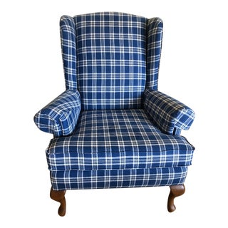 1990s Walter E. Smithe Wingback Chair For Sale