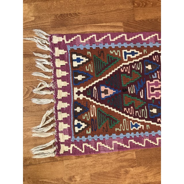 1970s Vintage Kilim Turkish Rug-1′8″ × 3′10″ For Sale In Raleigh - Image 6 of 10