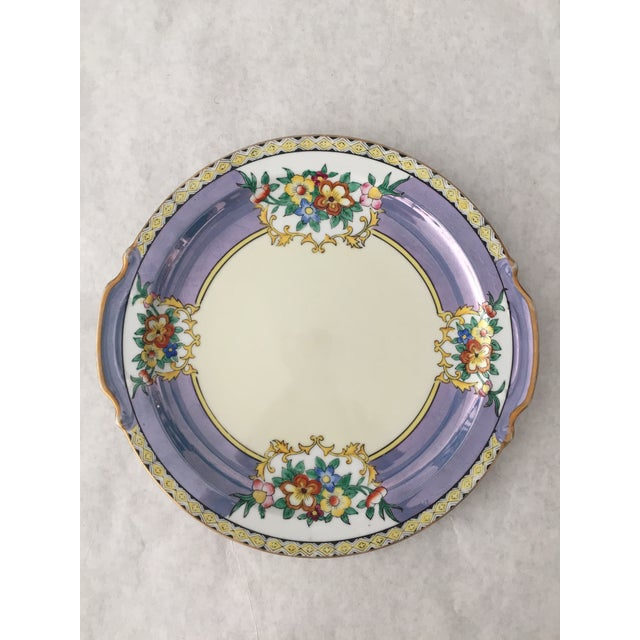 Antique Lustreware Noritake Plate For Sale - Image 5 of 5