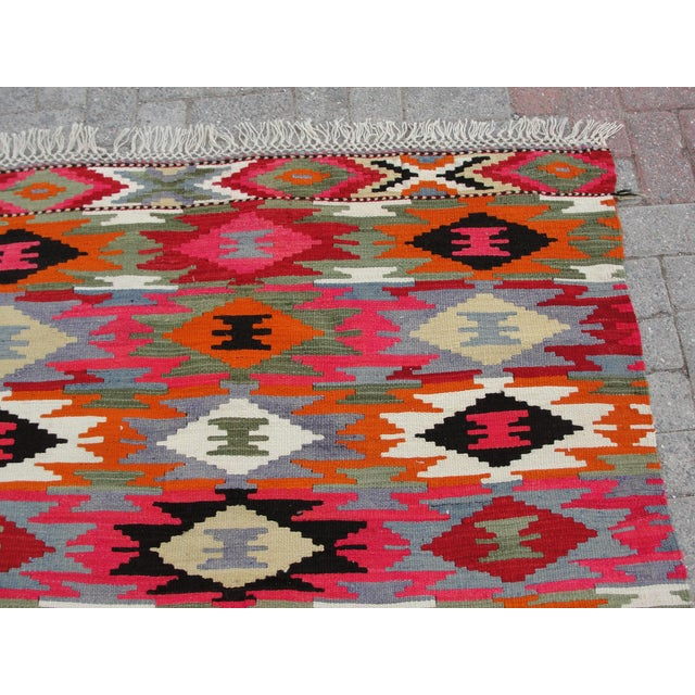 Vintage Turkish Kilim Rug - 4′4″ × 6′10″ For Sale - Image 4 of 11