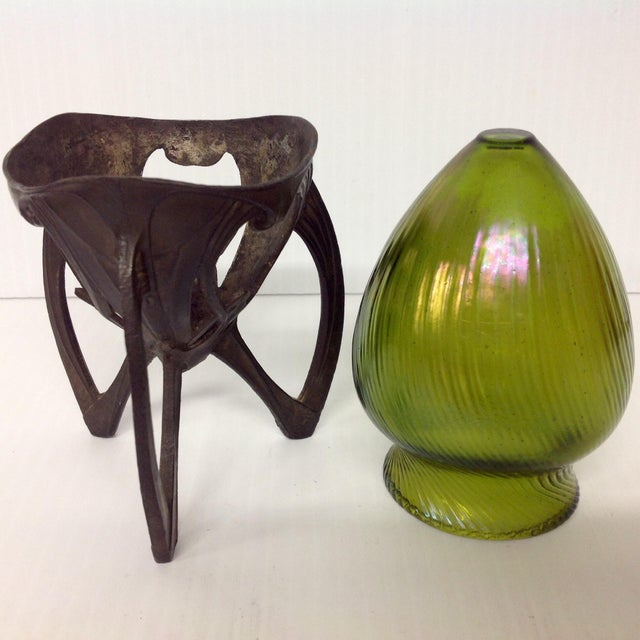 Art Glass Insert in an 1920s Osirus Metal Mount - Image 4 of 4