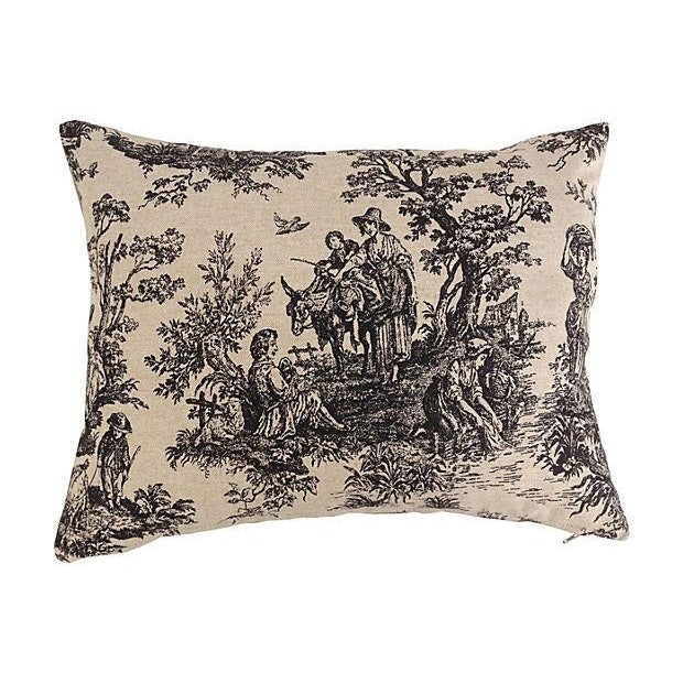 French Country French Country Toile Pillows - Set of 3 For Sale - Image 3 of 5