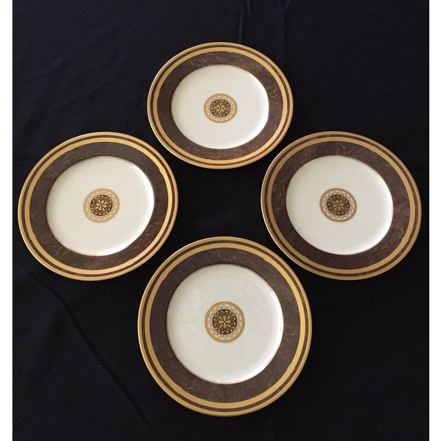 Mahogany Florentine Luncheon or Dessert China Set - 18 Pieces For Sale - Image 11 of 13