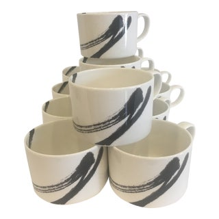 Vintage 80's Set Of12 Coffee Cups For Sale