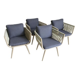 20th Century Modern Patio Chair Set by Renava Outdoor - Set of 4