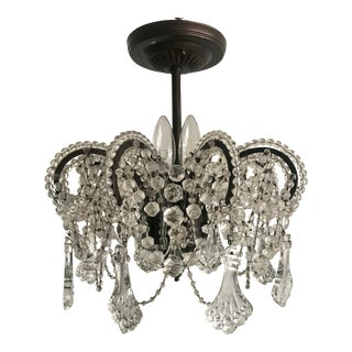 "Chandi Lighting ""Tracy"" Crystal Chandelier For Sale"