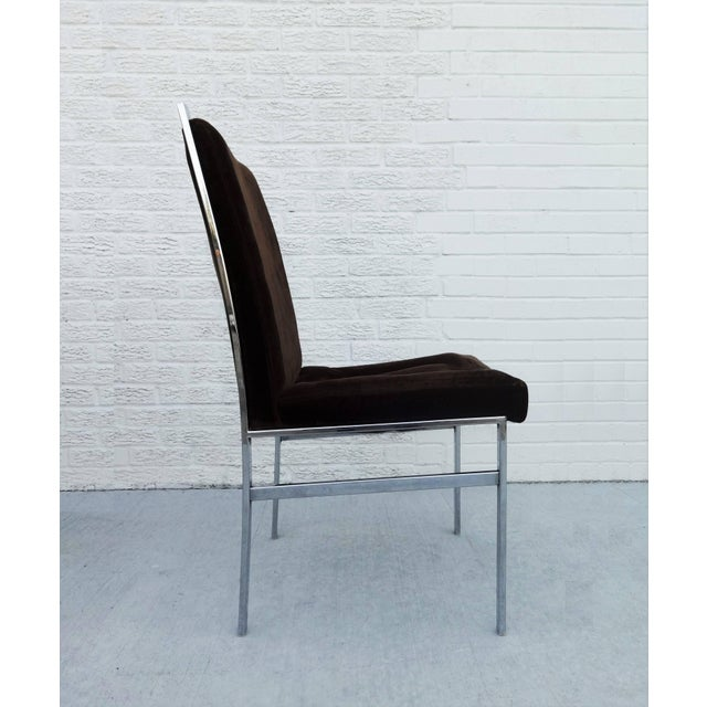 1970s Set of Six Chrome Dining Chairs by Dillingham in the Style of Milo Baughman For Sale - Image 5 of 10