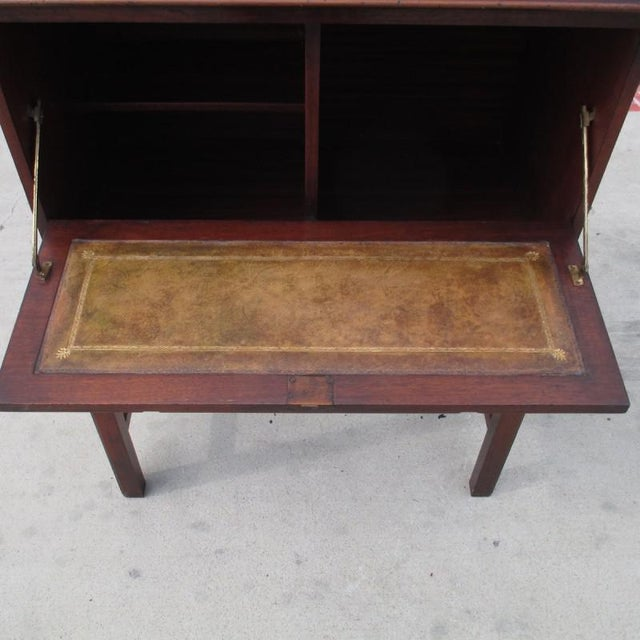 English Antique Drop Front Writing Desk For Sale - Image 4 of 8