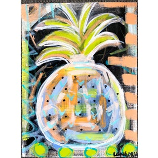 """Pineapple #10"" Abstract Painting by Christina Longoria For Sale"