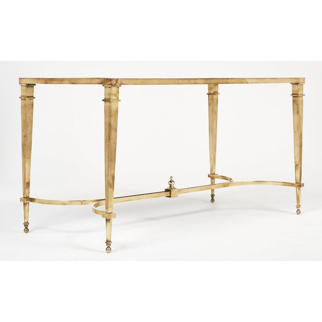 Art Deco Brass and Mirror Coffee Table For Sale In Austin - Image 6 of 11