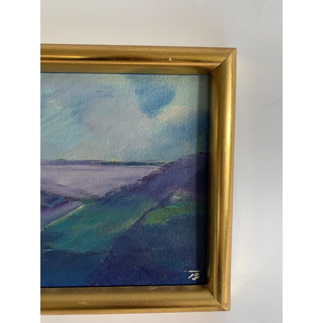 Abstract Vintage European Landscape Painting For Sale - Image 3 of 6