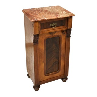 19th Century Antique Continental Empire Side Table Bedside Cabinet For Sale