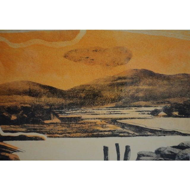 Vintage Framed Limited Edition Landscape Serigraph - Signed and Numbered For Sale - Image 9 of 13