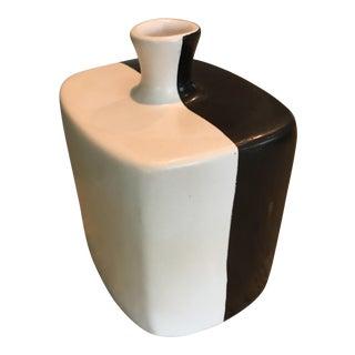 Modernist Ceramic Black & White Matte Finish Vase