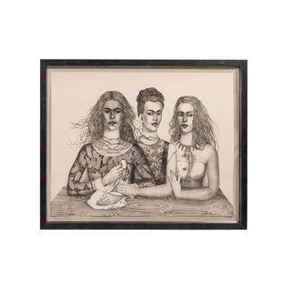 Las Tres Fridas 'The Three Fridas' Stone-Cut Lithograph For Sale