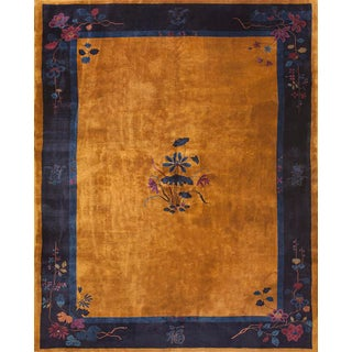 "1920s Chinese Art Deco Rug 9'0"" X 11'4"" For Sale"