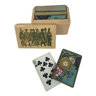 Vintage Card Games Wood Box