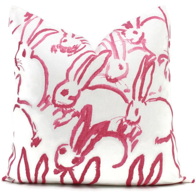 Add a pop of pink to your room with this adorable bunny print based on the sketches by hunt slonem. A conversation piece...