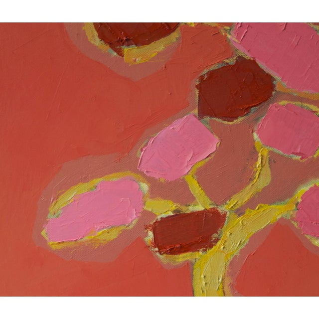 """Abstract Bill Tansey """"Blossom"""" Abstarct Floral Oil Painting on Canvas For Sale - Image 3 of 4"""
