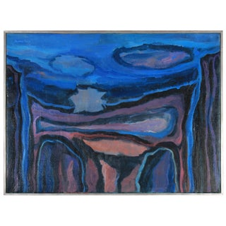 """The Blue Cliffs II"" 1953 Oil Painting by Seymour Tubis"