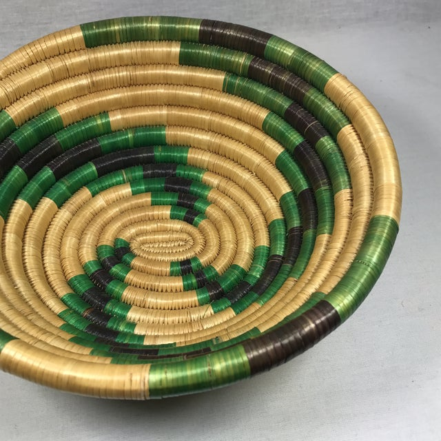 Handmade African Grass Basket - Image 6 of 11
