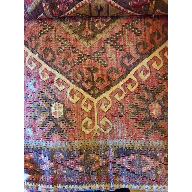 George Smith 8-Foot Kilim Sofa For Sale - Image 9 of 12
