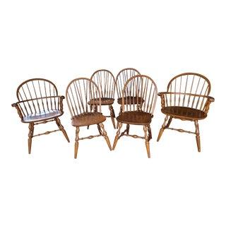 Vintage Nichols & Stone Brace Back Windsor Chairs - Set of 6 For Sale